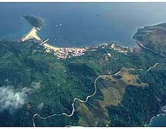arial view of Taboga